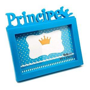 Porta Retrato Plastico Principe 20 x 15 azul Menino