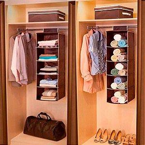 Prateleiras Sapateira Dobrável Tnt Organizador Closet 5 Nicho