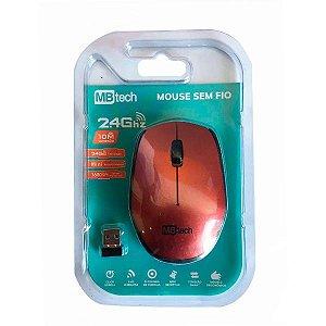 Mouse Sem Fio Wireless 2.4 Ghz C/ 10m De alçance Vinho