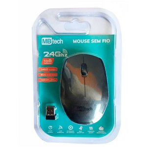 Mouse Sem Fio Wireless 2.4 Ghz C/ 10m De alçance Preto