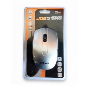 Mouse Óptico C/ Fio P/ Notebook E Pc USB 3.0 /2.0 /1.1 Prata
