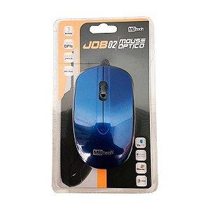 Mouse Óptico C/Fio Para Notebook E Pc USB 3.0 /2.0 /1.1 Azul