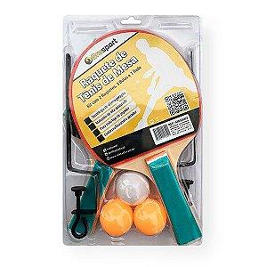 Kit Com 2 Raquetes + 3 Bolas + 1 Rede