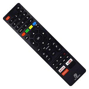 Controle Tv Remoto Philco Smart Netlix YouTube Globoplay