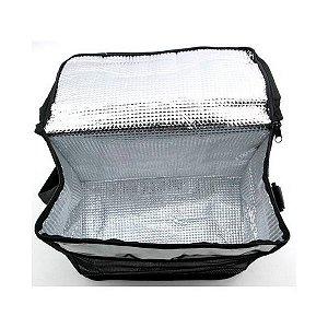 Bolsa Térmica Lancheira 12 Litros Prata C/ Alça