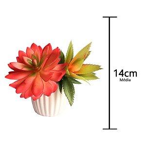 Kit Mini Plantas Suculentas Artificiais Vaso Magnético 14cm