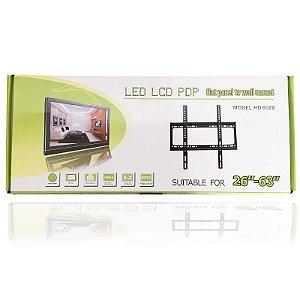 Suporte Fixo para TV de LCD LED 26' a 63' Pol Preto 50Kg