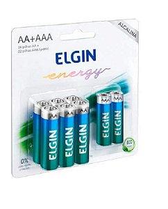 Pilha Alcalina Blister C/6 un AA - 2un AAA Elgin Original