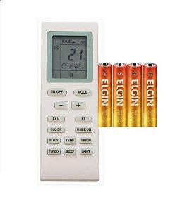 Controle Remoto Ar Condicionado Split Gree Yb1f2 YB1FA +pilh