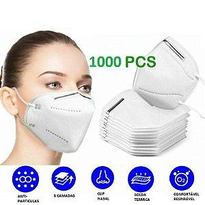 1000 UN Máscara Kn95 Proteção Clip Nasal 4 Camadas