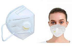 Kit 5 Máscara Proteção KN95 Com Válvula de Respiração
