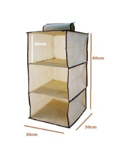 kit 3 Organizador Vertical Tnt Para Closet E Guarda Roupas