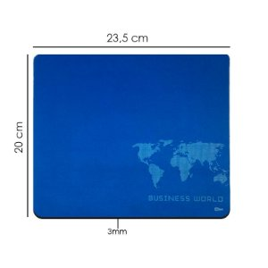 Mouse Pad Azul Base Emborrachada 20x23cm PC Note