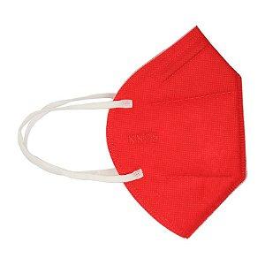 10 UN Mascara Proteçao KN95 Vermelha Clip Nasal bfe 95% ffp2 classe S