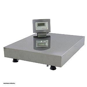 Balança Eletrônica Plataforma Inox 300 Kg Sem Coluna Visor Led Welmy