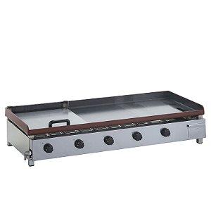 SCGB 120 Chapa para Lanches a Gás 120 x 50 cm com Prensa Linha Bifeteira 5 Queimadores Edanca