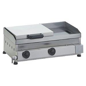 SCGP 60 Sanduicheira a Gás 60 x 40 cm com Prensa Linha Prata 2 Queimadores Edanca