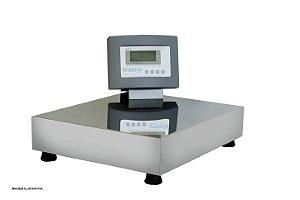 Balança Eletrônica Plataforma Inox 100 Kg Sem Coluna e Com Bateria Visor Lcd Welmy