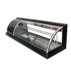 Vitrine Refrigerada para Sushi Linha Alfa 1,30m Ômega