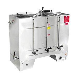 CIA 50 Cafeteira Elétrica Industrial Semiautomática 50 Litros 2 Reservatórios Consercaf