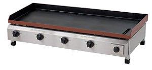 CH 2.104 Chapa Para Lanches a Gás 100 x 50 Cm Com Prensa Linha Profissional 4 Queimadores Marchesoni
