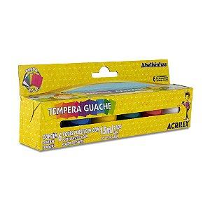 TEMPERA GUACHE 15ML C/6 CORES - ACRILEX
