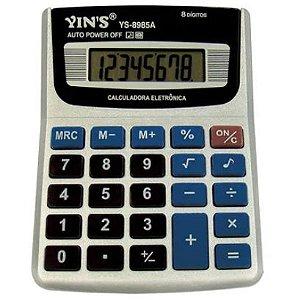 CALCULADORA ELETRÔNICA YS-8985A 8 DÍGITOS - YIN'S