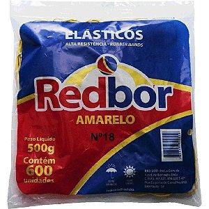ELÁSTICO AMARELO Nº 18 C/600 UNIDADES - RED BOR