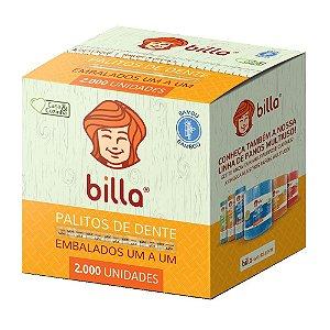 PALITO DE DENTE BAMBU EMBALADO C/2000 UNIDADES - BILLA