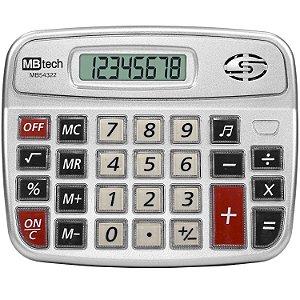 CALCULADORA ELETRÔNICA MB54322 8 DÍGITOS - MBTECH