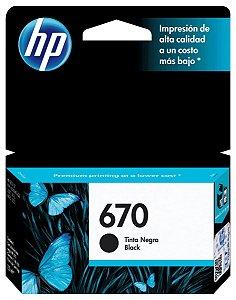CARTUCHO HP 670 CZ113AB PRETO - 7,5ML