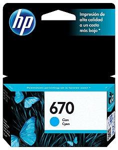 CARTUCHO HP 670 CZ114AB CIANO - 3,5ML