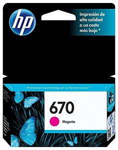 CARTUCHO HP 670 CZ115AB MAGENTA - 3,5ML