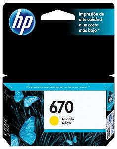 CARTUCHO HP 670 CZ116AB AMARELO - 3,5ML