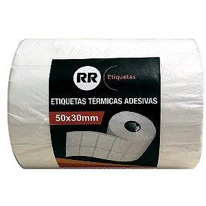 ETIQUETA TÉRMICA ADESIVA 50X30MM C/2182 UNIDADES - RR ETIQUETAS