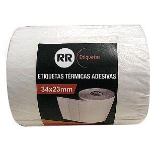 ETIQUETA TÉRMICA ADESIVA 34X23MM C/4320 UNIDADES - RR ETIQUETAS