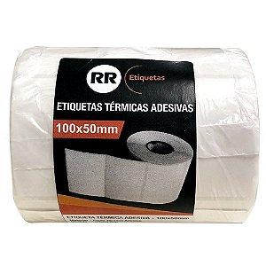 ETIQUETA TÉRMICA ADESIVA 100X50MM C/686 UNIDADES - RR ETIQUETAS
