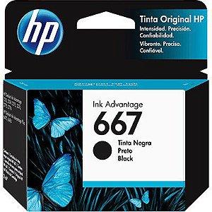 CARTUCHO HP 667 3YM79AB PRETO - 2ML