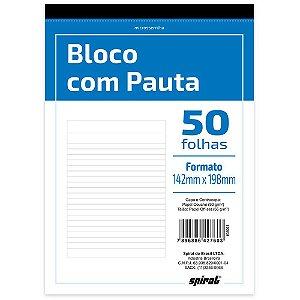BLOCO COM PAUTA 142MMX198MM 50 FLS - SPIRAL
