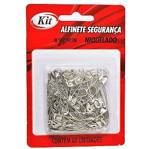 ALFINETE DE SEGURANÇA Nº 2 NIQUELADO C/60 UNIDADES - KIT