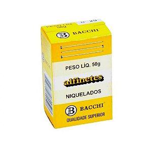 ALFINETE DE AÇO Nº 29 NIQUELADO 50G - BACCHI