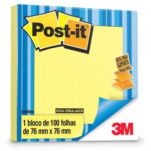 REFIL POP-UP 76MMX76MM AMARELO 100 FLS - 3M