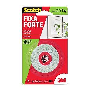 FITA DUPLA FACE SCOTCH FIXA FORTE ESPUMA 24MMX1,5M - 3M