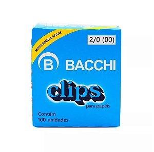 CLIPS Nº 2/0 (00) AÇO GALVANIZADO C/100 UNIDADES - BACCHI