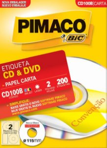 ETIQUETA CARTA CD100B CD & DVD 100 FOLHAS - PIMACO