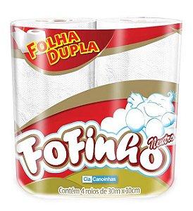 PAPEL HIGIÊNICO FOLHA DUPLA C/4 UNIDADES - FOFINHO