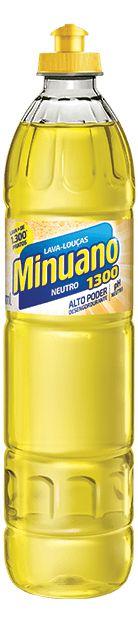 DETERGENTE LÍQUIDO NEUTRO MINUANO - 500ML