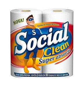 TOALHA DE PAPEL MULTIUSO C/2 - SOCIAL CLEAN