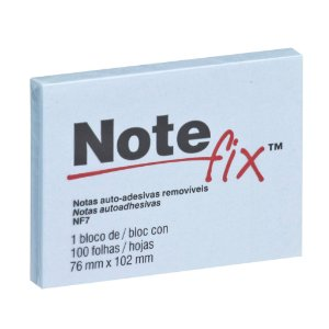BLOCO ADESIVO NOTEFIX NF7 76MMX102MM AZUL 100 FLS - 3M