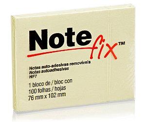 BLOCO ADESIVO NOTEFIX NF7 76MMX102MM AMARELO 100 FLS - 3M